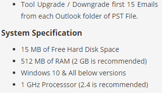 pst upgrade tool specifications