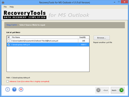 Windows 7 Outlook PST Recover Deleted Items 1.0 full